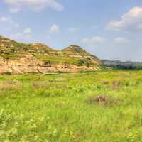 Hills, grasslands, and pinnacles at Theodore Roosevelt National Park, North Dakota