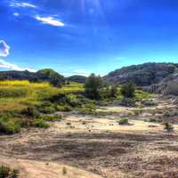 Landscape in the park at Theodore Roosevelt National Park, North Dakota