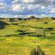 Landscapes of grasslands and hills at Theodore Roosevelt National Park, North Dakota