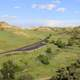 Road across the landscape at Theodore Roosevelt National Park, North Dakota