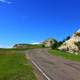 Roadway in the park at Theodore Roosevelt National Park, North Dakota