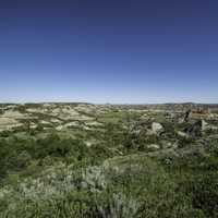Painted Canyon Landscape at Theodore Roosevelt National Park, North Dakota