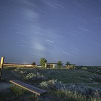 Star Trails at Painted Canyon, North Dakota