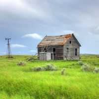 House on the grasslands at White Butte, North Dakota