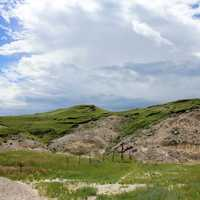 Trail to the top at White Butte, North Dakota