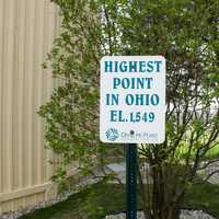 Campbell Hill High Point Sign, Ohio