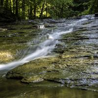 Closer view of small waterfall at Cayuhoga Valley National Park, Ohio