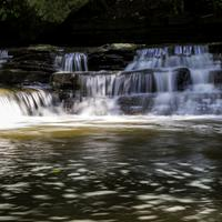Frontal View of the Small Falls at Cayuhoga Valley National Park, Ohio