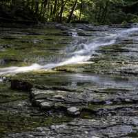Small water cascade at Cayuhoga Valley National Park, Ohio