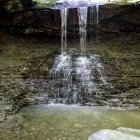 View of Blue Hen Falls in Cayuhoga Valley National Park, Ohio