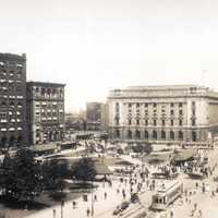 Skyline of Cleveland Square in 1912, Ohio