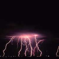 Lightning Storm from the clouds in Norman, Oklahoma