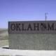 Oklahoma welcoming sign at the panhandle