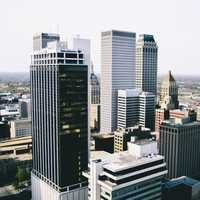 Cityscape and Towers in Tulsa, Oklahoma