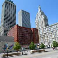 Offices and city block in Tulsa, Oklahoma
