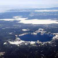 Aerial View of Crater Lake National Park, Oregon