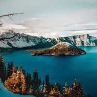 Crater Lake Scenic Landscape in Oregon