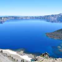 Grand overlook of Crater lake National Park, Oregon