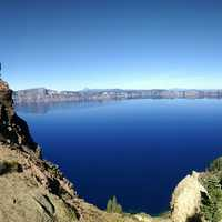 Long View of Crater Lake, Oregon