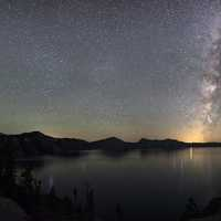 Milky Way and Stars at Crater Lake National Park, Oregon