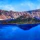 Scenic Landsape and Clear Waters of Crater Lake National Park, Oregon