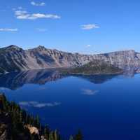 Scenic Landscape of Crater Lake National Park, Oregon