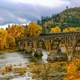 Autumn landscape and Bridge in Oregon