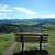 Bench overlooking the Valley landscape in Oregon