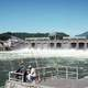 Bonneville Dam and people fishing
