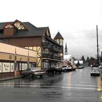 Charles Street in central Mt. Angel in Oregon
