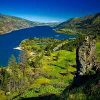 Columbia River Valley landscape in Oregon