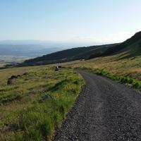 Dalles Mountain Ranch road in Oregon