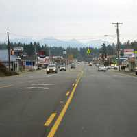 Driving into town from the north in Cave Junction, Oregon