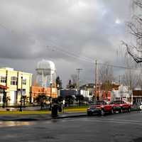 Looking at a street in Woodburn, Oregon