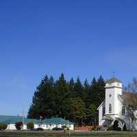 Lourdes School and church in Stayton, Oregon
