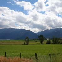 Near Enterprise, Oregon with landscape with clouds