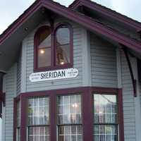 Sheridan's City Hall, a former train depot in Oregon