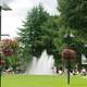 Spraying Water Fountain with trees and lawn in Beaverton, Oregon
