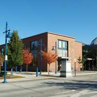 The library in downtown in Sherwood, Oregon
