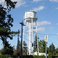 The watertower in Hubbard, Oregon