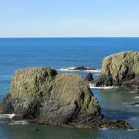 Yaquina head rocks in Oregon
