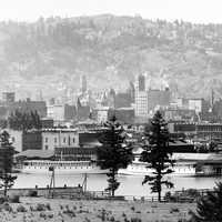 Portland Waterfront in 1898, Oregon