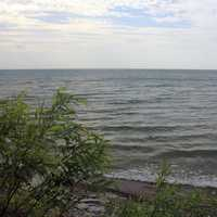 Lake Erie landscape at Eerie Bluffs State Park, Pennsylvania