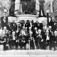 1911 photograph of the 50th Reunion of the Allen Infantry in Allentown, Pennsylvania