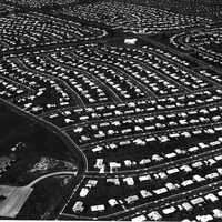 Aerial view of Levittown circa 1959 in Pennsylvania
