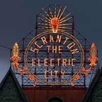 Electric City sign in Scranton, Pennsylvania