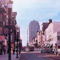Hamilton Street West from 6th in 1950 in Allentown, Pennsylvania