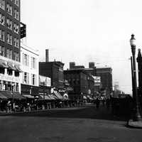 State and 9th Streets in downtown Erie during the early 1920s in Pennsylvania