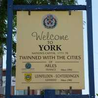 Welcome to York sign in Pennsylvania