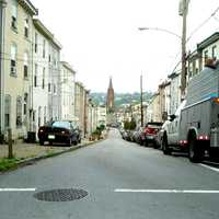Manayunk and streets in Philadelphia, Pennsylvania